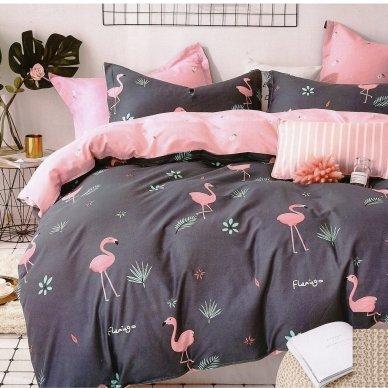 """Patalynės komplektas """"Flamingo prisilietimas"""", 2 dalių, 140x200 cm"""