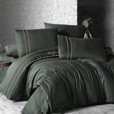 """Patalynės komplektas """"Stripe Style Dark Green"""", 6 dalių, 200x220 cm"""