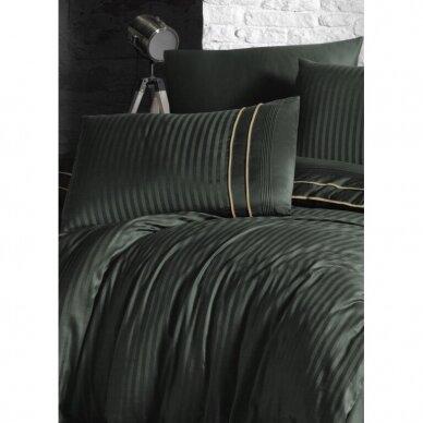 """Patalynės komplektas """"Stripe Style Dark Green"""", 6 dalių, 200x220 cm 2"""