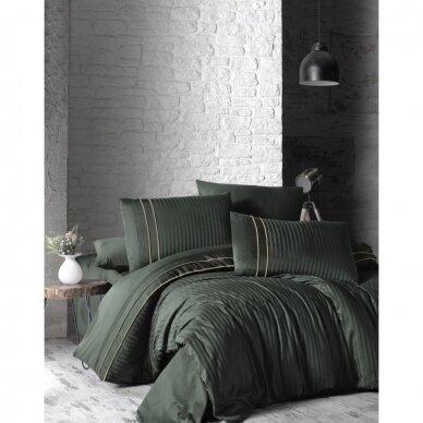 """Patalynės komplektas """"Stripe Style Dark Green"""", 6 dalių, 200x220 cm 3"""