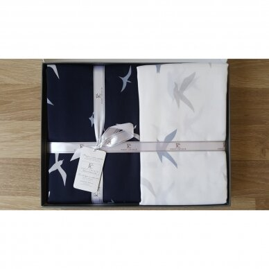 """Patalynės komplektas """"Liberta Lacivert"""", 6 dalių, 200x220 cm (tamsiai mėlyna) 3"""