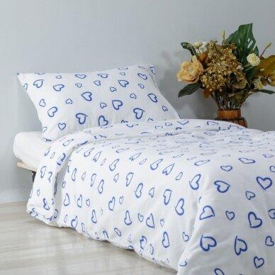 "Patalynės komplektas ""Mėlyna Meilė"", 2 dalių, 140x200 cm"