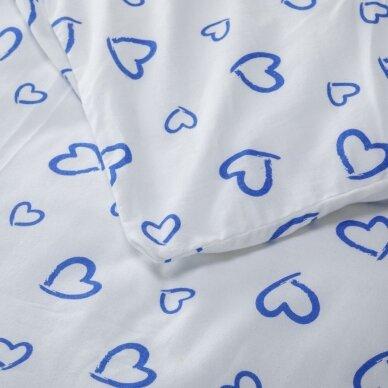 "Patalynės komplektas ""Mėlyna Meilė"", 2 dalių, 140x200 cm 3"