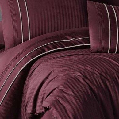 """Patalynės komplektas """"Stripe Style Dark Red"""", 6 dalių, 200x220 cm 2"""