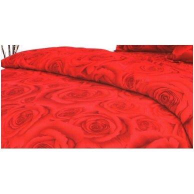 """Patalynės komplektas """"Raudonoji Rožė"""", 4 dalių, 180x200 cm 2"""