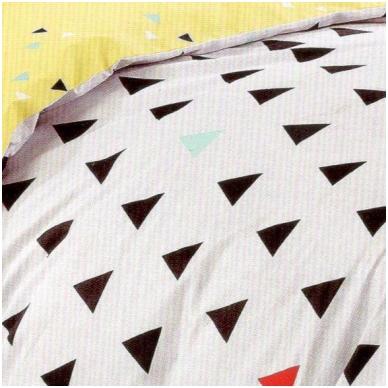 """Patalynės komplektas """"Spalvoti Trikampėliai"""", 2 dalių, 140x200 cm 3"""