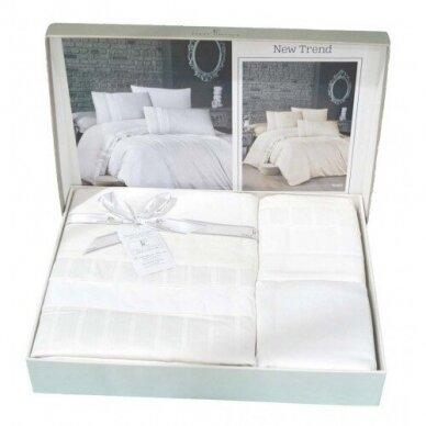 """Patalynės komplektas """"New Trend Beyaz"""", 6 dalių, 200x220 cm 3"""