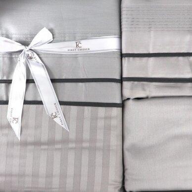 """Patalynės komplektas """" Stripe Style Gri"""", 6 dalių, 200x220 cm 2"""