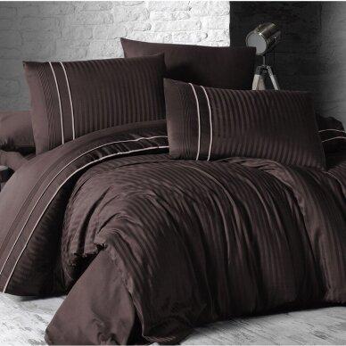 """Patalynės komplektas """"Stripe Style Cikolata"""", 6 dalių, 200x220 cm"""