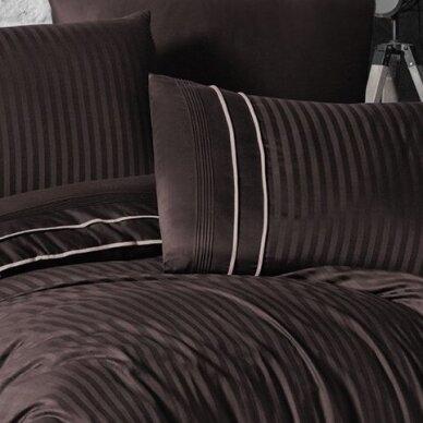 """Patalynės komplektas """"Stripe Style Cikolata"""", 6 dalių, 200x220 cm 2"""