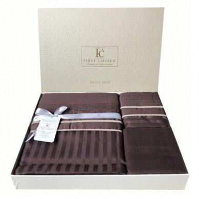 """Patalynės komplektas """"Stripe Style Cikolata"""", 6 dalių, 200x220 cm 3"""