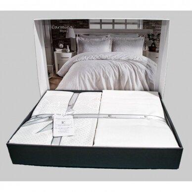 """Patalynės komplektas """"Carmina Beyaz White"""", 6 dalių, 200x220 cm 5"""