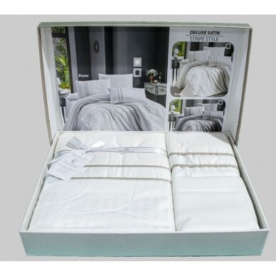 """Patalynės komplektas """"Stripe Style Beyaz"""", 6 dalių, 200x220 cm 2"""