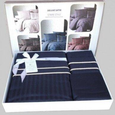 "Patalynės komplektas ""Stripe Style Lacivert"", 6 dalių, 200x220 cm 4"