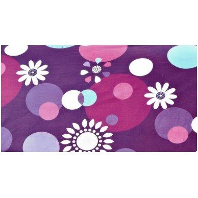 """Patalynės komplektas """"Violetinis Žaidimas"""", 4 dalių, 180x200 cm 3"""