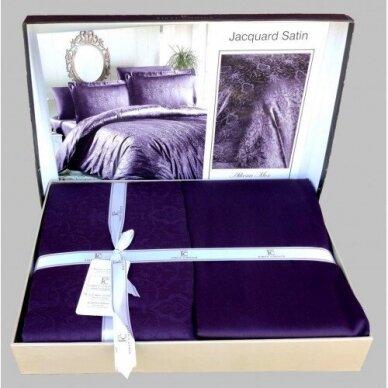 """Patalynės komplektas """"Athena Mor"""" (violetinė), 6 dalių, 200x220 cm 2"""