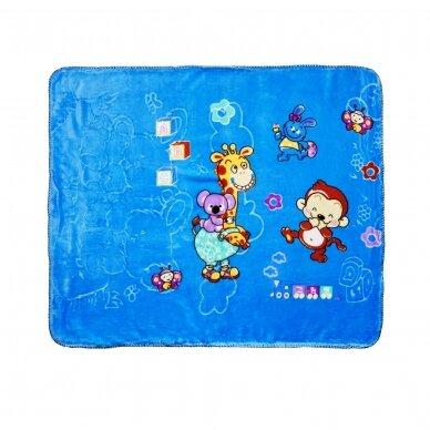 "Pledas ""Draugai"" (mėlyna), 90x100 cm"