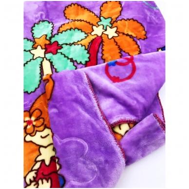 """Pledas """"Mažyliai"""" (violetinis), 90x100 cm 3"""