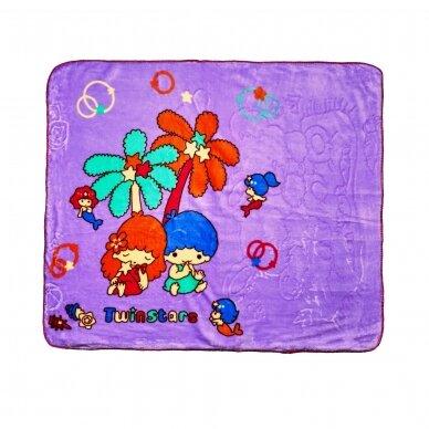 """Pledas """"Mažyliai"""" (violetinis), 90x100 cm"""
