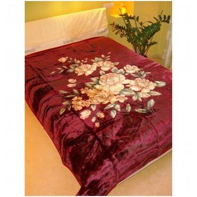"""Pledas """"Rožių švelnumas"""", 160x210 cm 2"""