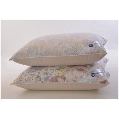 Žąsų pūkų ir plunksnų pagalvė (90%-pūkų, 10%-plunksnų), 68x68 cm 7
