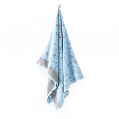"""Bambukinis rankšluostis """"Žvaigždutės"""", 70x115 cm 2"""
