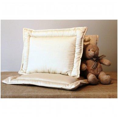 Rankų darbo pagalvė vaikui su 100% avių vilnos užpildu, 40x60 3