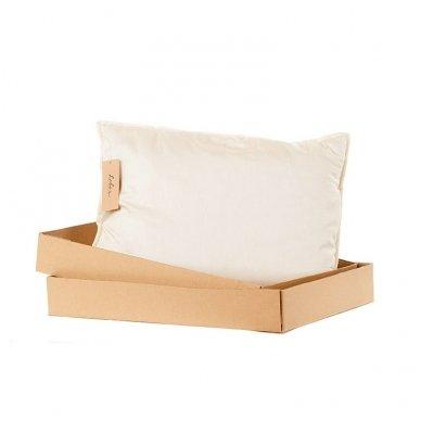 Rankų darbo pagalvė su avių vilnos ir porolono užpildu, 50x70 cm 5