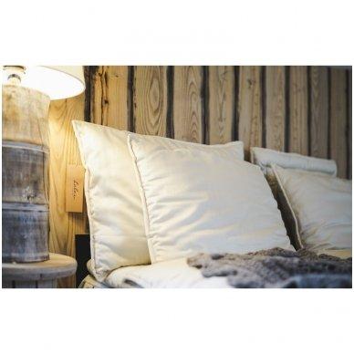 Rankų darbo pagalvė su 100% avių vilnos užpildu, 50x70 cm 6