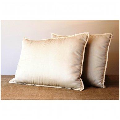 Rankų darbo pagalvė su 100% avių vilnos užpildu, 50x70 cm 4