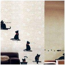 "Sienos lipdukas ""Katinai"", 50x70 cm"