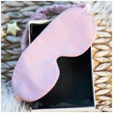 Šilkiniai miego akiniai (šviesiai rožiniai)