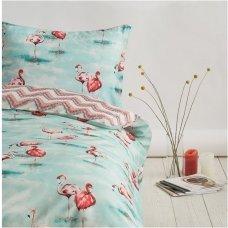 """Siuvamas Premium satino patalynės komplektas """"Flamingo šuolis"""""""