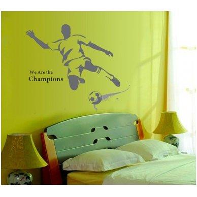 """Sienos lipdukas """"Futbolo Aistruolis"""", 110x120 cm 4"""