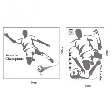 """Sienos lipdukas """"Futbolo Aistruolis"""", 110x120 cm 2"""
