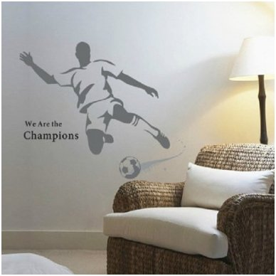 """Sienos lipdukas """"Futbolo Aistruolis"""", 110x120 cm"""