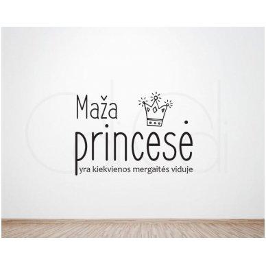 """Sienos lipdukas """"Maža Princesė"""" 2"""