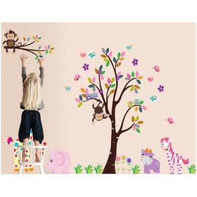"""Sienos lipdukas """"Medis su Draugais"""", 156x260 cm 2"""