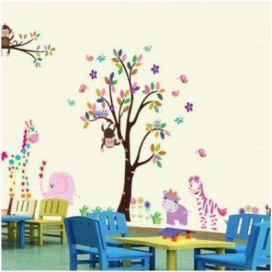 """Sienos lipdukas """"Medis su Draugais"""", 156x260 cm"""