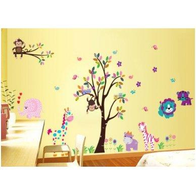 """Sienos lipdukas """"Medis su Draugais"""", 156x260 cm 4"""