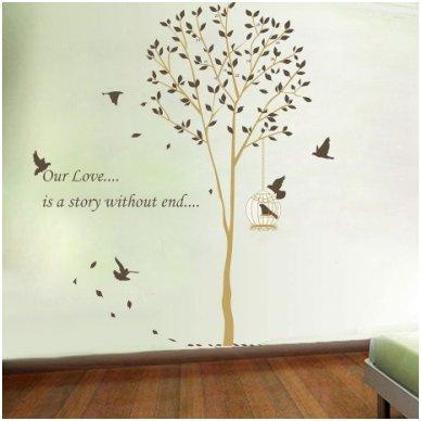 """Sienos lipdukas """"Meilės medis"""", 160x165 cm"""