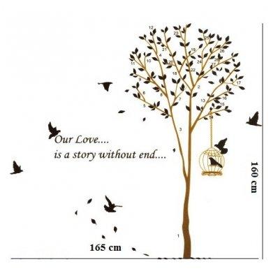 """Sienos lipdukas """"Meilės medis"""", 160x165 cm 3"""