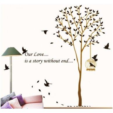 """Sienos lipdukas """"Meilės medis"""", 160x165 cm 2"""