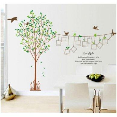 """Sienos lipdukas """"Nuotraukų Medis"""", 170x230 cm 3"""