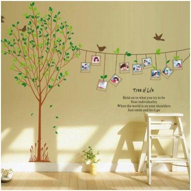 """Sienos lipdukas """"Nuotraukų Medis"""", 170x230 cm"""