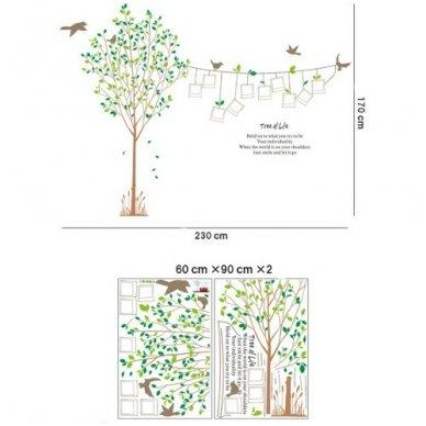 """Sienos lipdukas """"Nuotraukų Medis"""", 170x230 cm 4"""