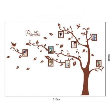 """Sienos lipdukas """"Šeimos Nuotraukų Medis"""", 160x216 cm 3"""