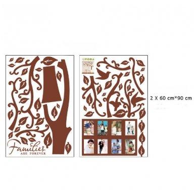 """Sienos lipdukas """"Šeimos Nuotraukų Medis"""", 160x216 cm 2"""