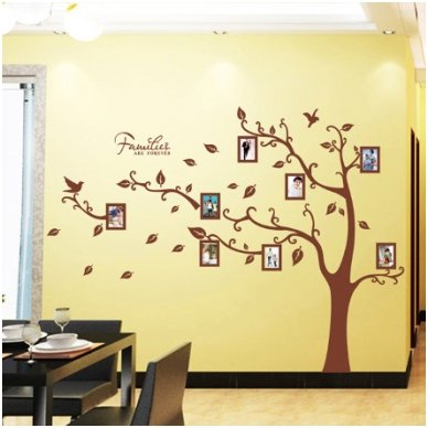 """Sienos lipdukas """"Šeimos Nuotraukų Medis"""", 160x216 cm"""