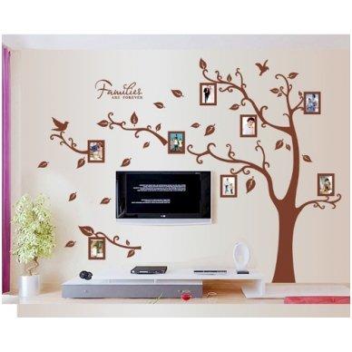 """Sienos lipdukas """"Šeimos Nuotraukų Medis"""", 160x216 cm 4"""